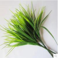 Plastic grass green  plant simulation artificial grass plants simulation grass fake grass for home decoration MA1504