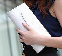 2014 new crocodile clutch bag clutch evening bag chain bag shoulder diagonal white women bags