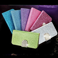 Bright Diamond Pattern PU Leather Full Body Case for iPhone 5/5S(Assorted Color)