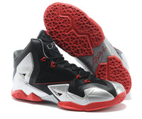 Lebron 11 Armory Slate Basketball Shoes For Mans and Kids Black Red Silver Lebrons XI MVP Elite Sneakers Women