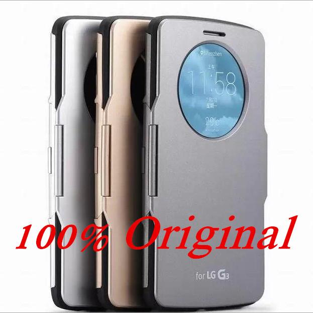 HOT ! 100% original View Luxury classic smart Flip Slim Armor back cover kingfor LG Optimus g3 case D855 D850 cell phone shell(China (Mainland))