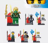 6pcs Brand New Mini Figures Ninja Building Blocks Toys for Ninjago No Retail Box