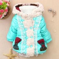 Retail Korean version winter JACKET for girls 1-4 YEARS KIDS CLOTHES WINTER COAT