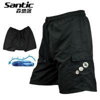 New SANTIC MTB Cycling Shorts Shortpants 3D Padded Bike Bicycle Cyling Wear M-3XL Free Shipping