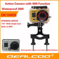Action Camera Full HD DVR Sport DV Original DK1000S 1080P Helmet Waterproof Camera WIFI G Senor Motor Mini DV 170 Wide Angle