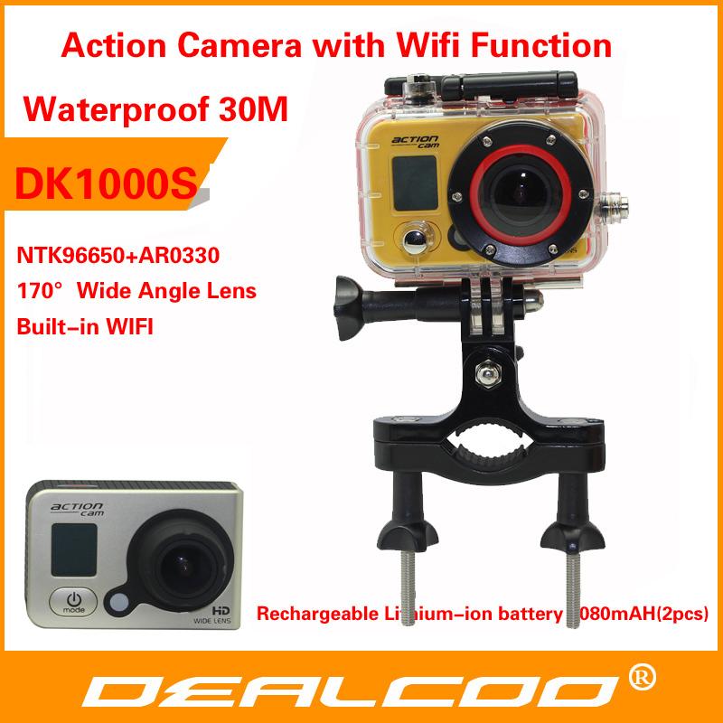 ação câmera dvr full hd dv esporte original dk1000s 1080p câmera impermeável capacete g wi-fi senor motor mini dv 170 wide angle(China (Mainland))
