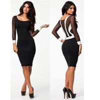 Free shipping women dresses lady dress sexy 2014 new designer fashion plus size 0169