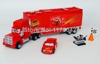 Original Box PIXAR Cars Mack's Team Truck Building Block Sets Toys Bela 10017 Educational Toys Bricks