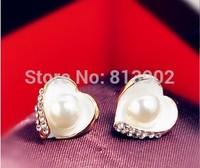 4pcs/lot Fashion jewelry sweet Love stud earrings  women earring
