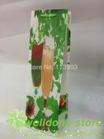 wholesale 12pieces/lots 40*11*10cm waterproof of wedding party wine bottle gift bags