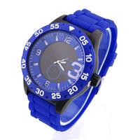 Hot Women Quartz Watch V6 Unisex Sports Watches Analog Steel Men wristwatches Alloy Case Glass Silicone 2014 New Discount
