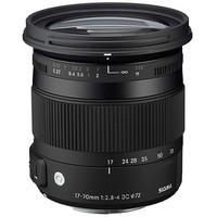 Sigma New 17-70mm f/2.8-4 DC Macro OS (Optical Stabilizer) HSM Lens for Canon 1200D 450D 550D 650D T3i 50D 60D 70D