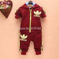 NEW Spring Autumn baby boys girls Sport suit set long sleeve hoodies sets children T shirt+pants 2 pcs outerwear clothing set