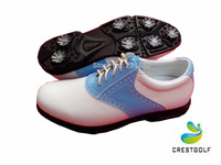 2014 Summer New Arrival Genuine Cow Leather Shoes Breathable Massage Golf Sports Shoes