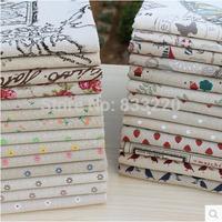 Little Daisy Cotton Hemp Print Linen Cotton Fabric Rustic Handmade Diy Table Cloth Curtain Patchwork Fabric Cloth Tecido