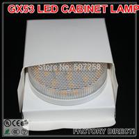 5pcs/lot Free shipping GX53 LED Cabinet Lamp, 30PCS Epistar SMD 5050 7W 110V 230V AC GX53 LED under cabinet light Bulb