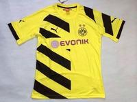 Borussia Dortmund Soccer Jersey 14 15 Top Thai Quality HOME YELLOW REUS Gundogan LEWANDOWSKI BVB uefa Football Shirt