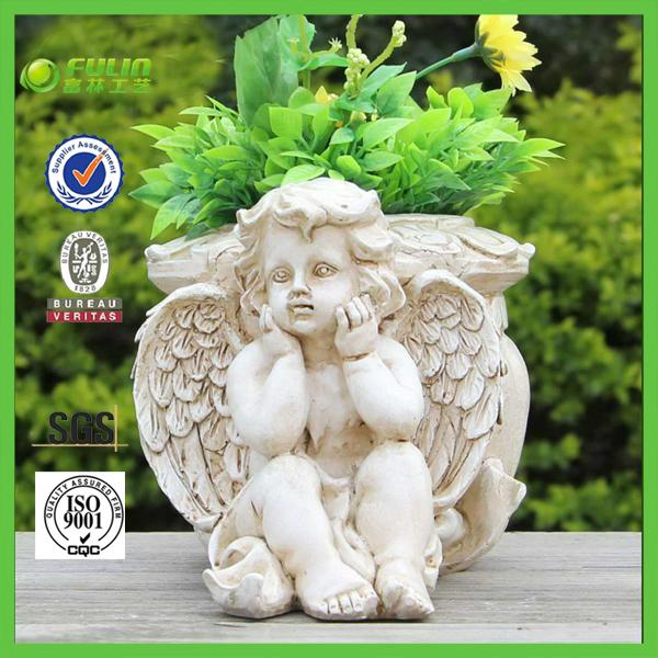plantas de jardim lista:vaso de flores do jardim da resina decoração Hot venda em Pote para