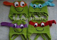 sell best  handmade crochet Ninja Turtles hat