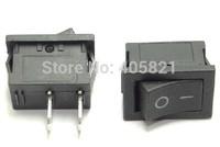 Miniature black rocker switch 2pins 15*10 without light 3A/250V 6A/125V