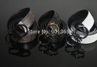 Embossed Men Genuine Leather Belts Brand Belts Men's Belts 3 Colors Available