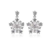 18k white gold plated snowflake earring fashion statement jewelry earrings for women wholesale earrings 2014 new design M304
