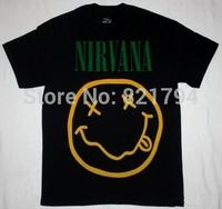 NIRVANA SMILE Rock Band t shirt Men T-shirts100% Cotton Short sleeve16 Colors Customized Logo Free Shipping