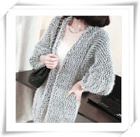 2014 New Fashion Autumn Winter  Women  Mohair Sweater Female Cardigan Mohair Sweater Outerwear Loose For Women