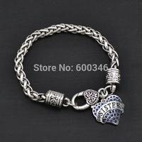 Latest made alloy charm bracelet heart crystal jewelry sister bracelet