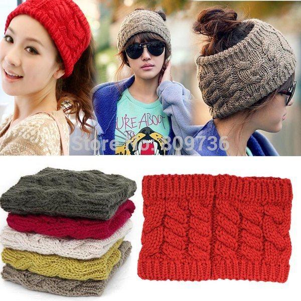 1PC Hot Fashion Women Lady Girl Warm Winter Knitted Empty Skull Beanie Hat Ski Cap HeadBand NEW Hair Band Accessory Free(China (Mainland))