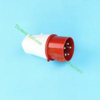 Industrial Plug Socket Coupler 025 CNQD-025 Red 32A 220V~415V 3P+E+N 5pin 60PCS/carton