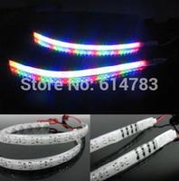 2014 new!! 48LED 60CM IP68 RGB Scan Strobe Knight Rider warning Lights flexible Daytime running light DRL strip/ Headlight strip