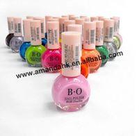 120pcs/lot B.o Ellipse Bottle Candy Color Nude Color Nail Villus Nail Art Nail Polish OilArt Nail Polish Oil