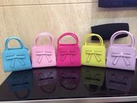 2014 girl'sTote with bow 5 colors fashion designer shoulder bag Girl's Handbag and messenger bags