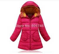 free shipping 2014 brand  Girls down coat down jacket winter children outerwear coats jacket  duck Down Parkas Girls f683