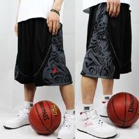 Free shipping 2014 men Basketball shorts street ball shorts summer knee lacing Sports shorts XL/XXL/XXXL/XXXXL