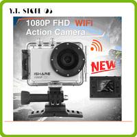 Hot selling! iShare S600W WiFi Action Sport Camera FHD 1080P 30M Waterproof Helmet Sport Video Camera Mini DV Gopro style