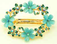 Fashion legant crystal women Barrettes flower hairpin B1746