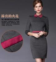 New hot selling elegant lady dress cute brief office dress M to XXL fashion lady Spring Autumn Winter dresses