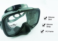 Super quality spearfishing snorkeling,silicone water sports hunting fishing black diving masks M-255(A)