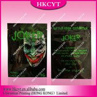 Joker potpourri spice bags with ziplock / herbal incense aluminum foil bag for wholesale