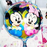 2014 New arrival Mickey Minnie wedding balloon happy child birthdayAluminium foil balloons 50pcs helium balloonsfree shipping