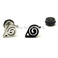 Naruto Earrings Symbol Animation Gaara Japanese Anime Earring Stainless Steel