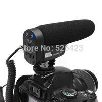 Pro Stereo Video Shotgun Mic Microphone For DSLR Camera DV Camcorder Black