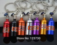 2014 New fashion NOS Mini Nitrous Oxide Bottle Keyring Key Chain Ring Pill Box pill case Storage Keyfob Stash Turbo Keychain