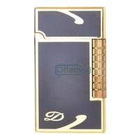Black Gold Simple Lines Pattern Lighter Not Including  Butane