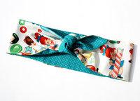 Vintage fashion donut print color block decoration double faced personality ribbon homemade bandanas