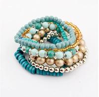 2014 Fashion Accessories women's metal Beaded Elastic Bracelet Factory Wholesale XY-B455