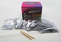 Liddy 100/Pk Soak-Off Gel  Polis Foil Remover Wraps  10 boxes / lot
