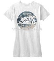 Arctic Monkeys Ocean Waves Hipster Indie Rock Music 2014 New Women T-shirt 100% Cotton Customized Logo Free Shipping